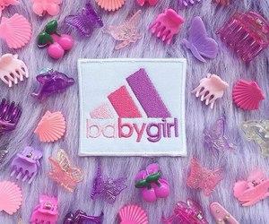 pink, adidas, and girl image