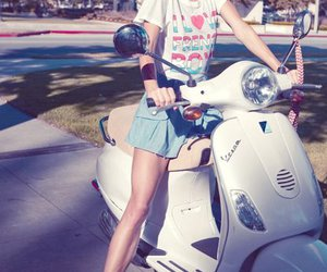bike, blonde, and pretty image