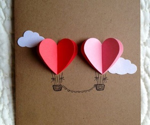 diy, hearts, and card image