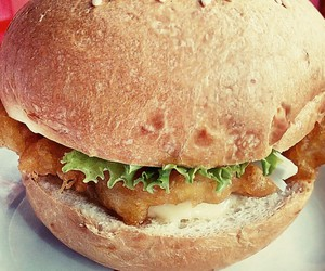 burger, Chicken, and eat image