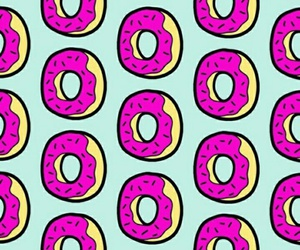 donut, pink, and pattern image