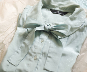 blouse, bow, and pastel image