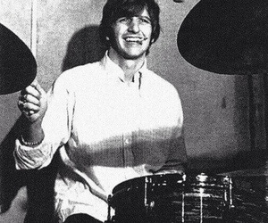 blackandwhite, thebeatles, and ringostarr image