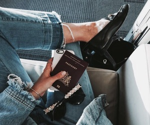 fashion, jeans, and travel image