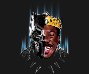 black panther, coming to america, and eddie murphy image