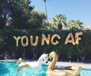 pool, summer, and young image