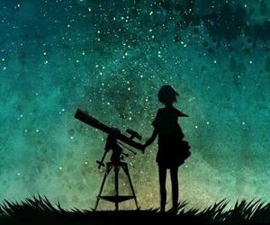 stars, night, and anime image