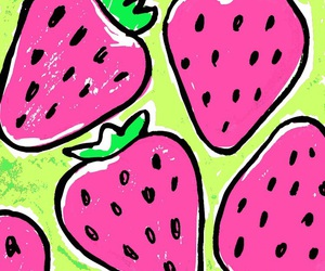 wallpaper, strawberry, and background image