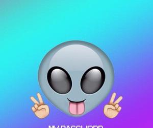 wallpaper, emoji, and alien image