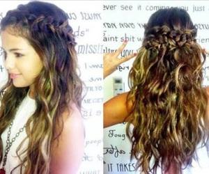 selena gomez, hair, and braid image