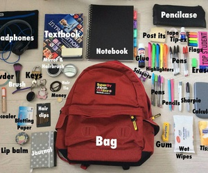 school and bag image