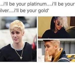 justin bieber, gold, and platinum image