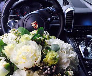 car, flower, and pretty image