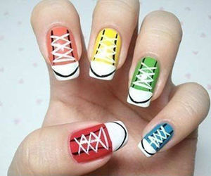 nails, converse, and nail art image