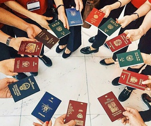 passport, travel, and adventure image
