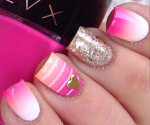 nails, pink, and nailart image