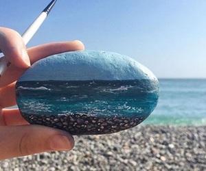 art, sea, and beach image