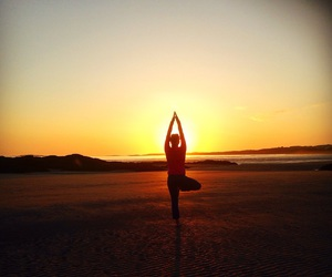 balance, beach, and beauty image