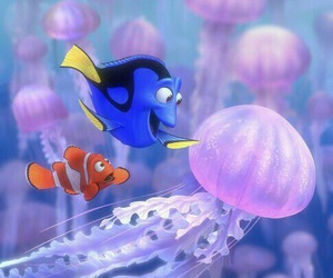 finding nemo, disney, and dory image