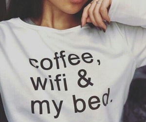 coffee, wifi, and bed image