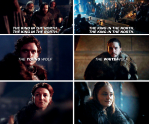 jon snow, robb stark, and game of thrones image