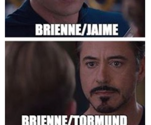 Jaime, game of thrones, and brienne image