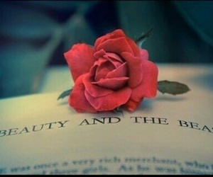beauty and the beast, disney, and roses image