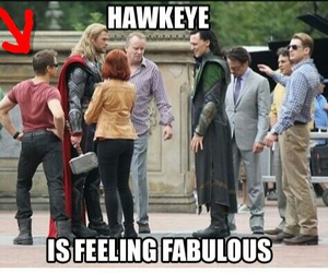 hawkeye, Avengers, and funny image