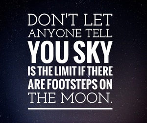 easel, moon, and quotes image