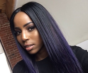 hair and purple ombre image