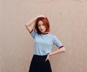 hair, korean, and short image