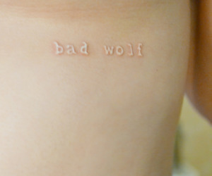 bad wolf, white ink, and doctor who image