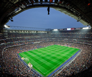 football, stadium, and madrid image