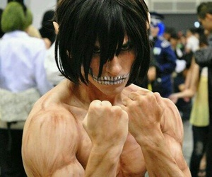 cosplay, attack on titan, and titan image