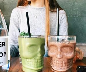 skull, drinks, and food image