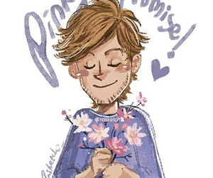 one direction, fanart, and louis tomlinson image