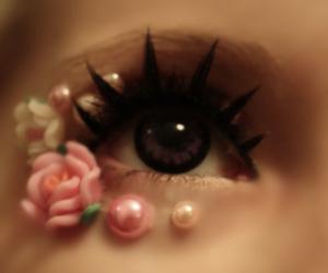 eyes, rose, and eye image