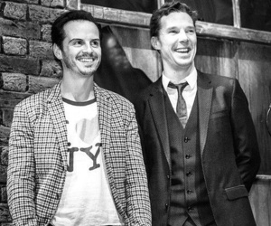 benedict cumberbatch, andrew scott, and sherlock image
