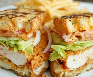 food, sandwich, and Chicken image