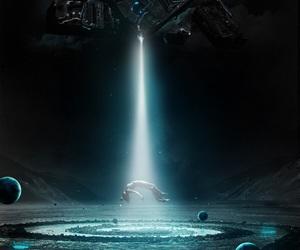 alien, dark, and space image