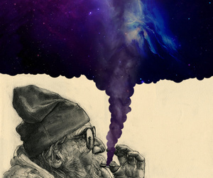 wallpaper, galaxy, and smoke image
