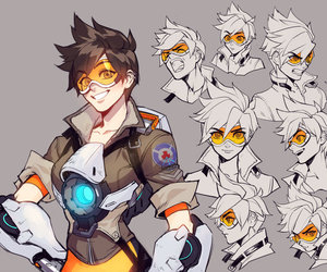 <3, fanart, and tracer image