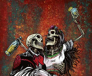 skull and love image