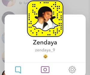 zendaya, snapchat, and snapcodigo image