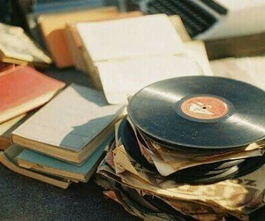 music, vintage, and book image