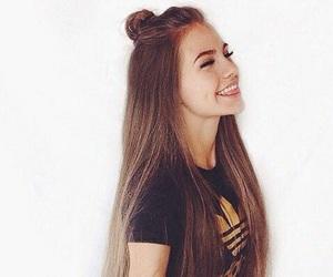 hair, girl, and adidas image