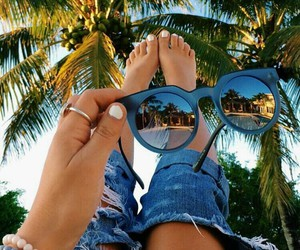 summer, sunglasses, and jeans image