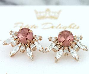 blush, bridal, and bridal jewelry image