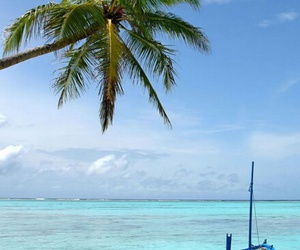 boat, ocean, and beach image