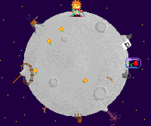 little prince, pixel, and pixel art image